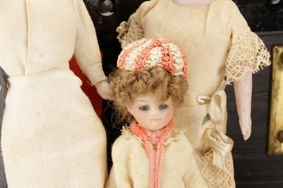 Grouping of Bisque & Porcelain Doll House Dolls - 2