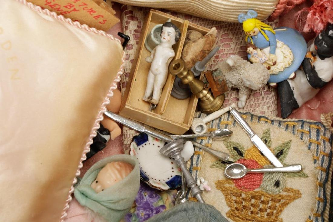 Grouping of Bisque & Porcelain Doll House Dolls - 7