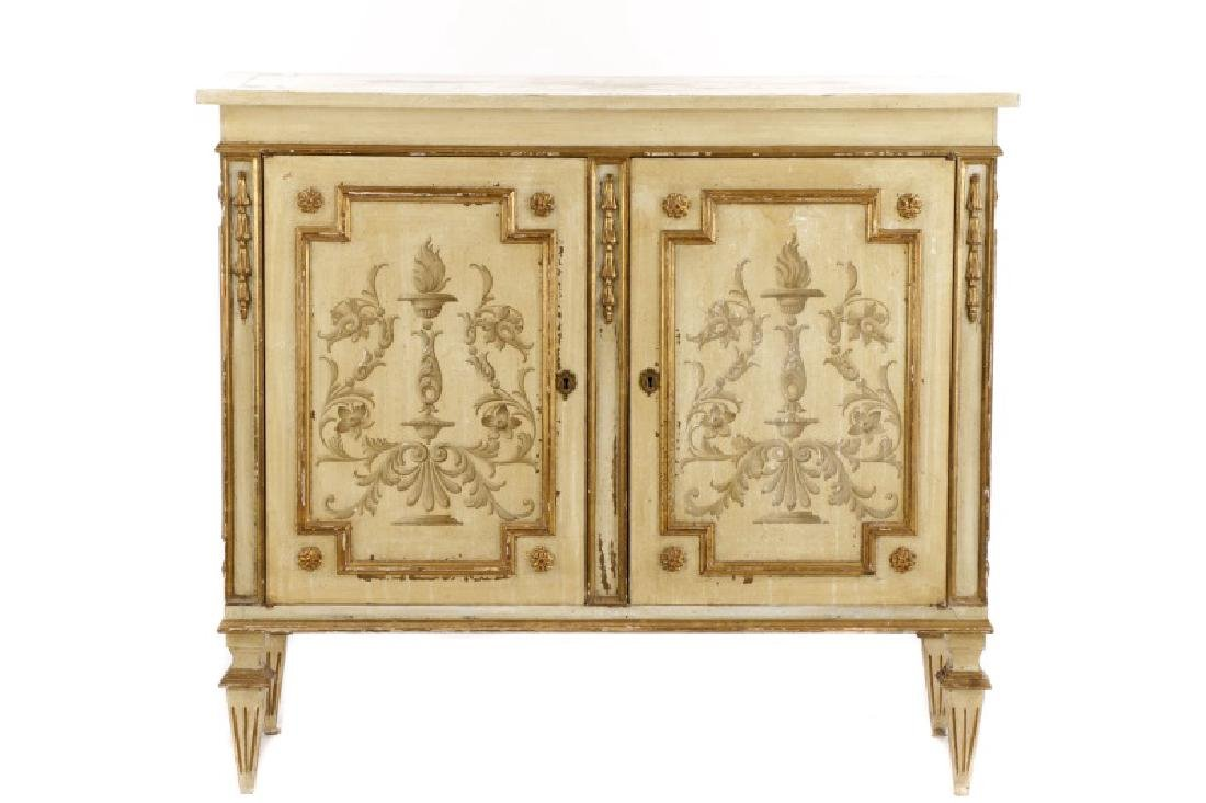 Italian Hollywood Regency Style Painted Commode