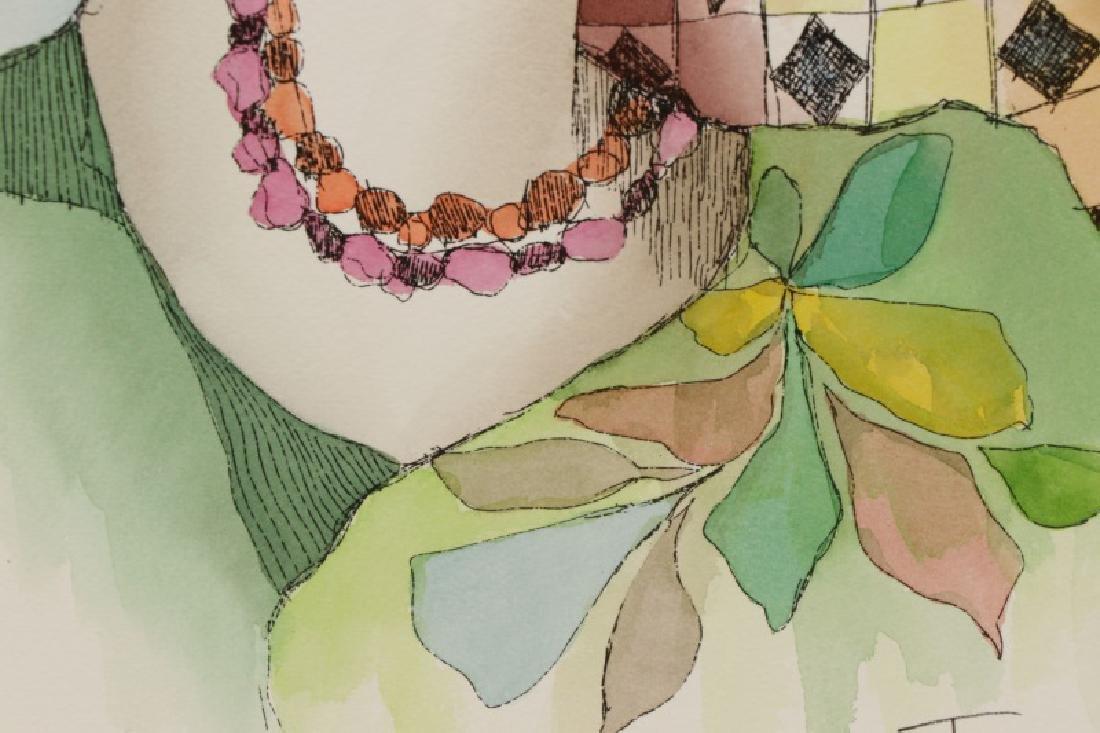 "Itzchak Isaac Tarkay, ""Inner Reflections"", Mixed - 6"