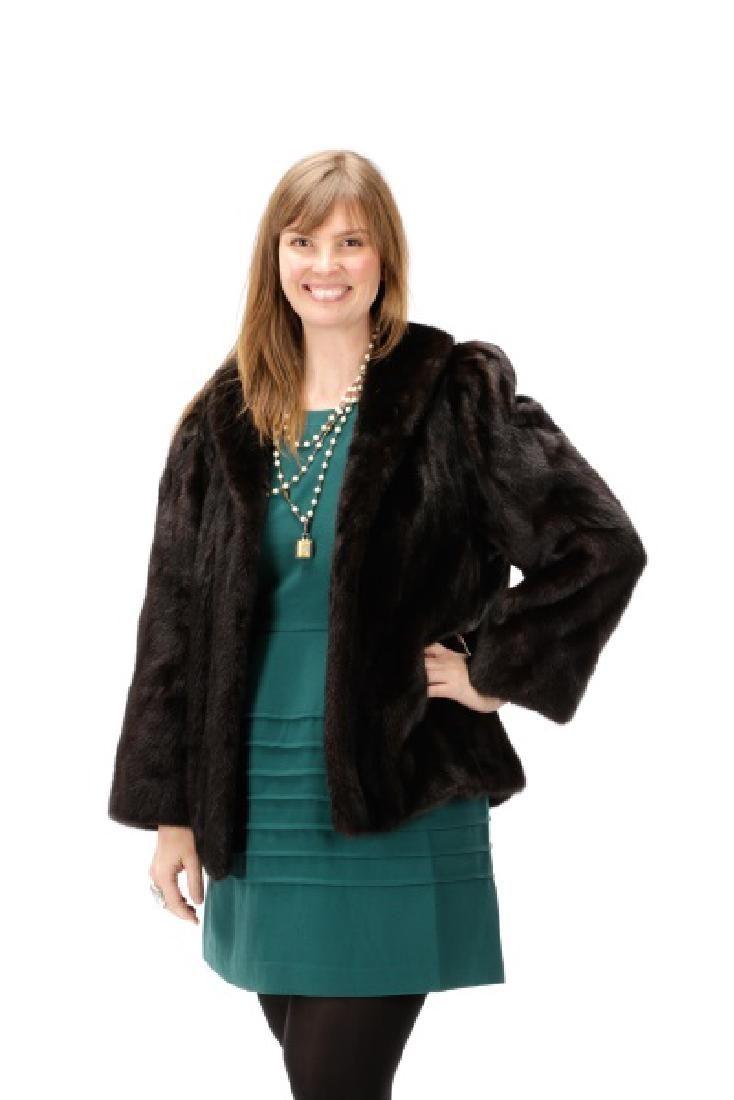 Neiman Marcus Dark Brown Mink Fur Coat