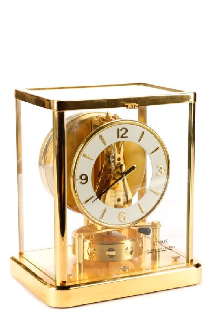 Atmos Jaeger LeCoultre Glass Front Table Clock
