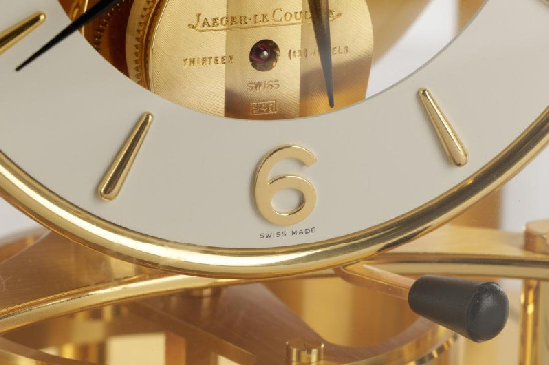 Atmos Jaeger LeCoultre Glass Front Table Clock - 3