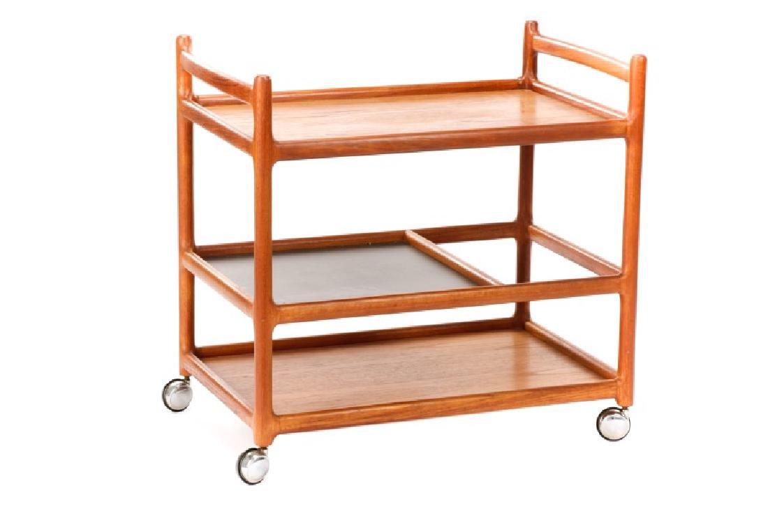 Johannes Andersen Mid-Century Danish Teak Bar Cart - 6