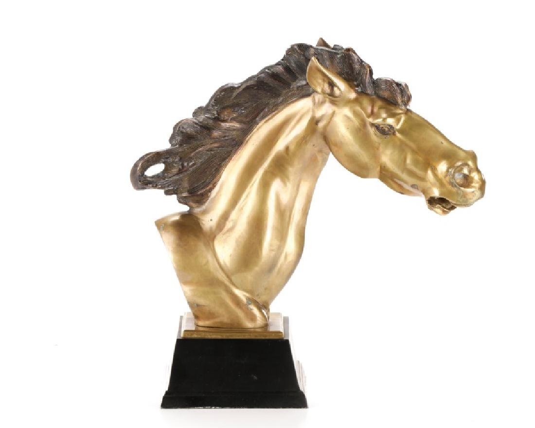 Mid-Century Bronze Horse Head Sculpture