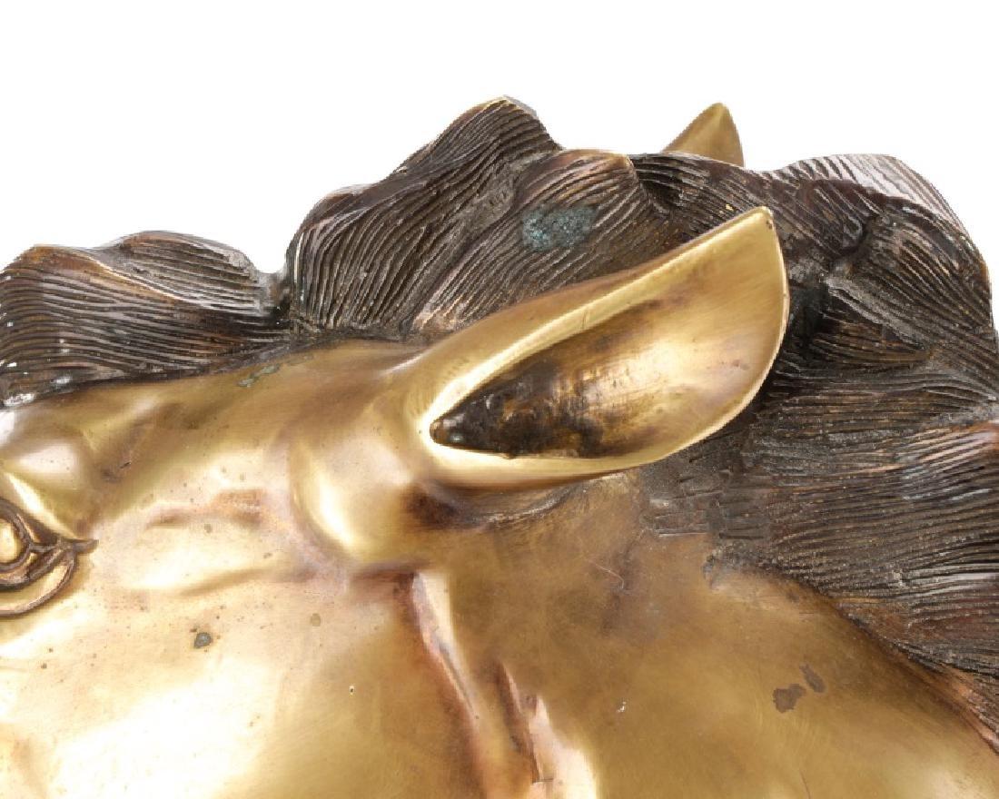 Mid-Century Bronze Horse Head Sculpture - 7