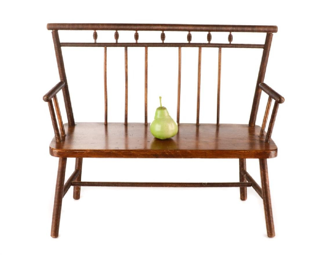 American Diminutive Child's Bench, Likely Southern - 6