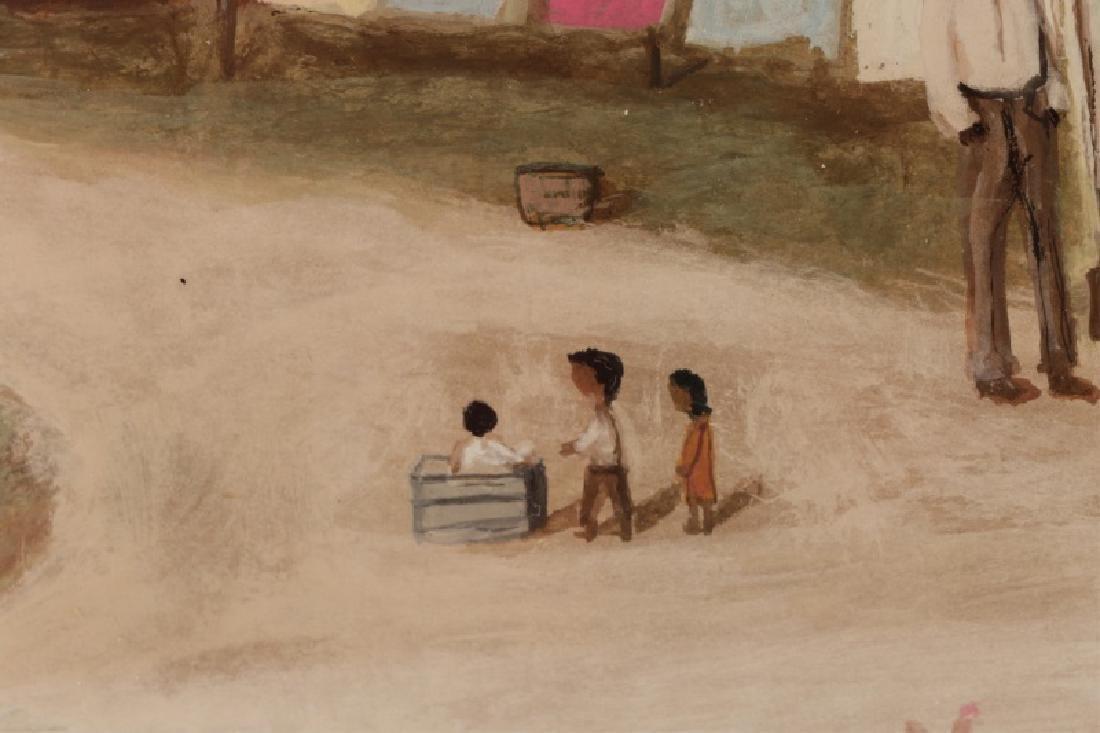 "After William Aiken Walker, ""Wash Day"", Gouache - 3"