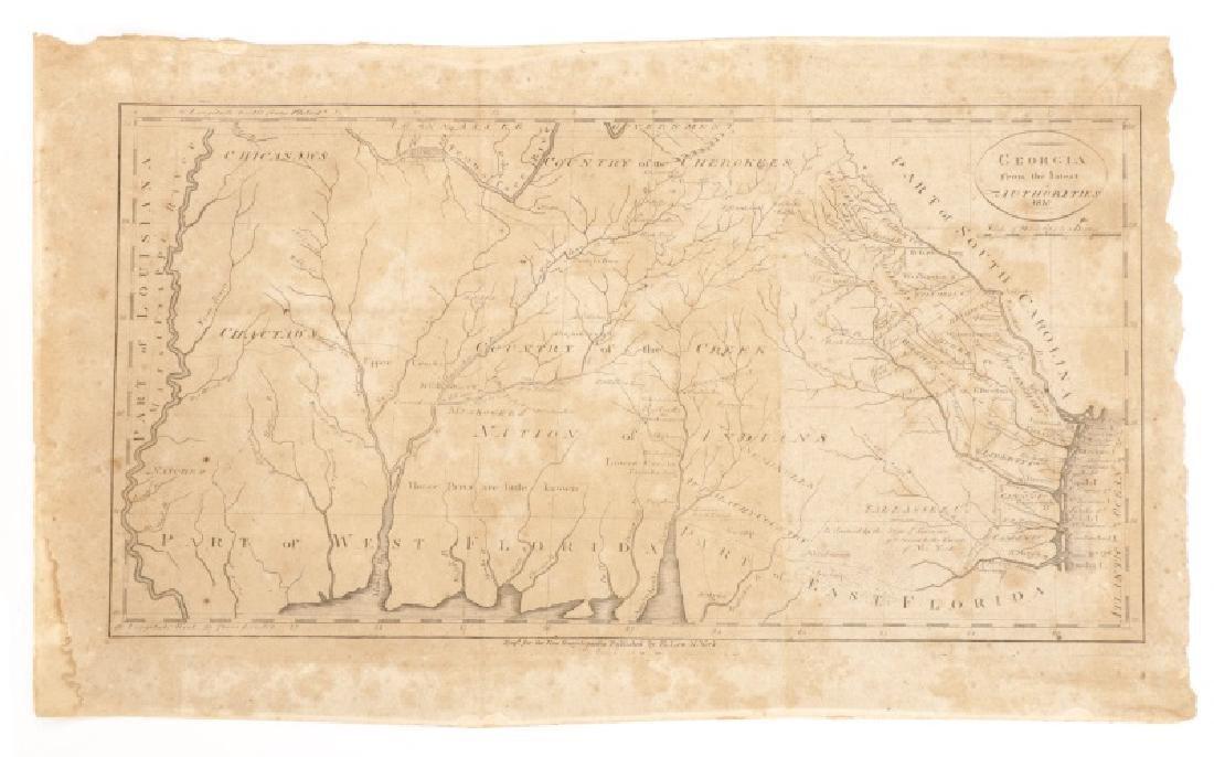 Early Map of Georgia, John Payne, Circa 1810