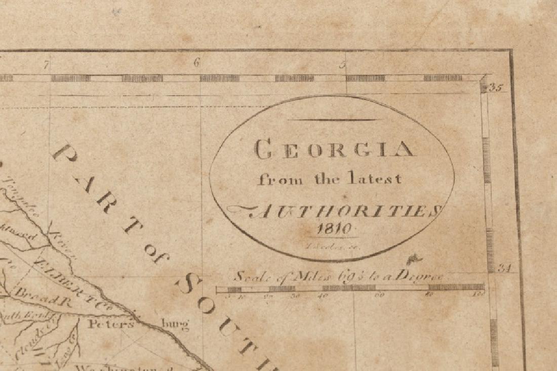 Early Map of Georgia, John Payne, Circa 1810 - 5