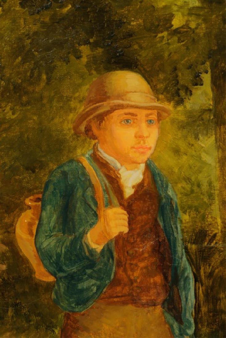 """American School, """"Forest Jaunt"""", Signed O/C - 4"""