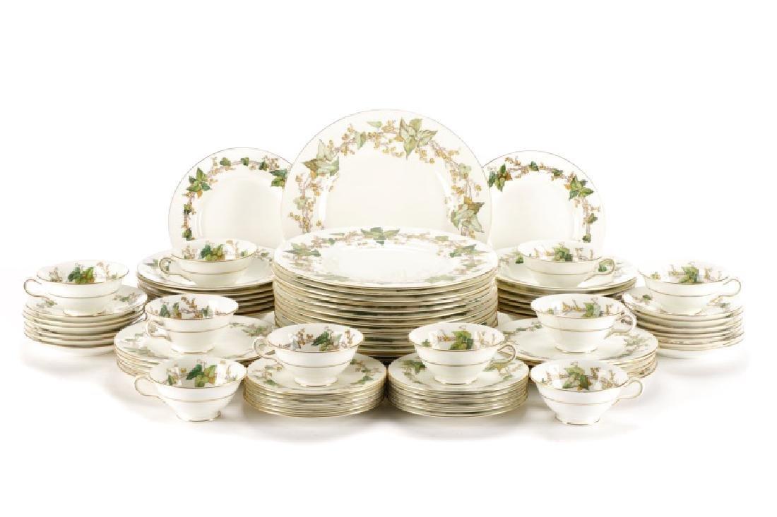 74 Pieces Minton Lothian Porcelain Dinner Ware