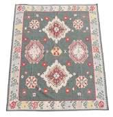 Large Hand Woven Kilim Flat-Weave Area Rug