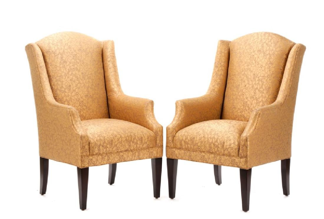 Pair of Dapha for Baker Upholstered Armchairs