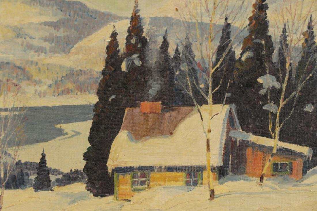 "Graham Norwell, ""In the Laurentians"", Oil on Board - 3"