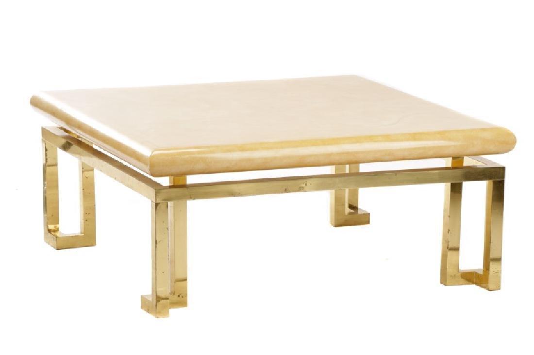 Aldo Tura Attribution Laminated Coffee Table