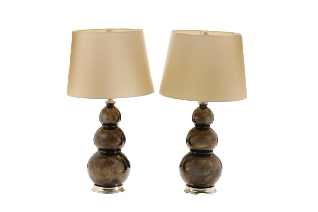 Pair, Christopher Spitzmiller Three Ball Lamps