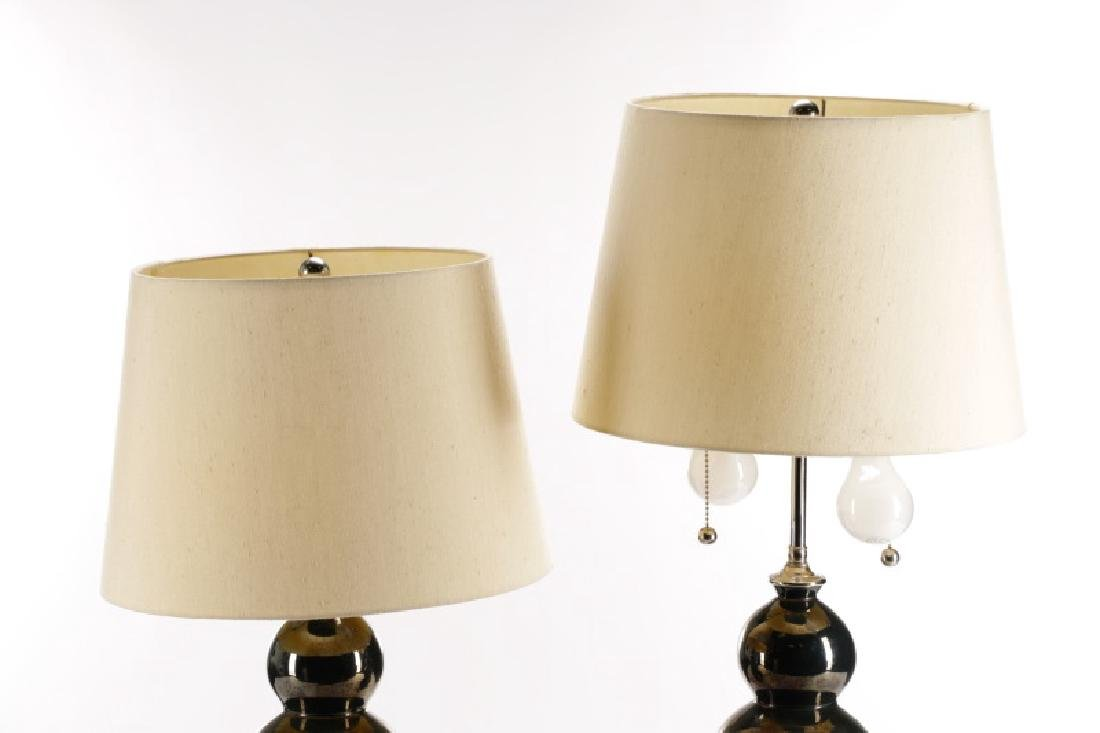 Pair, Christopher Spitzmiller Three Ball Lamps - 9