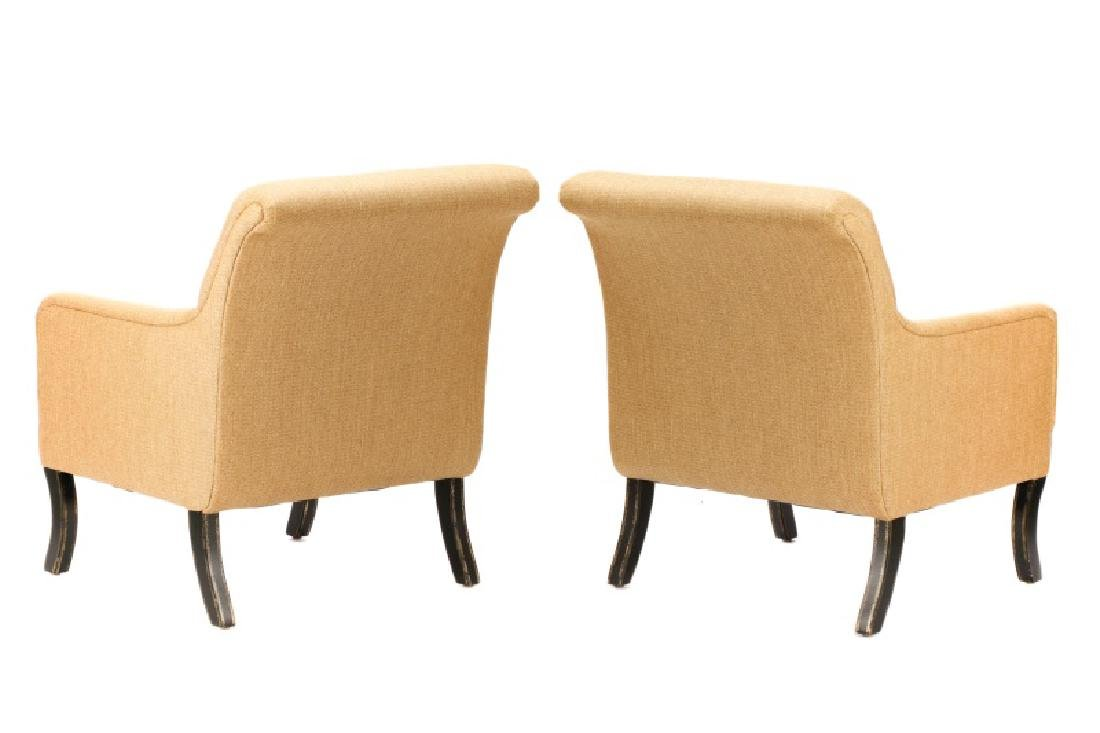 Pair, A. Rudin Upholstered Lounge Armchairs - 8