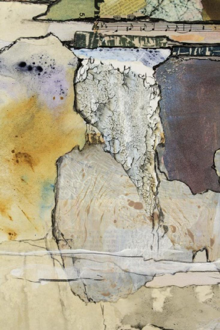 Large Abstract Collage Triptych Landscape, Signed - 6