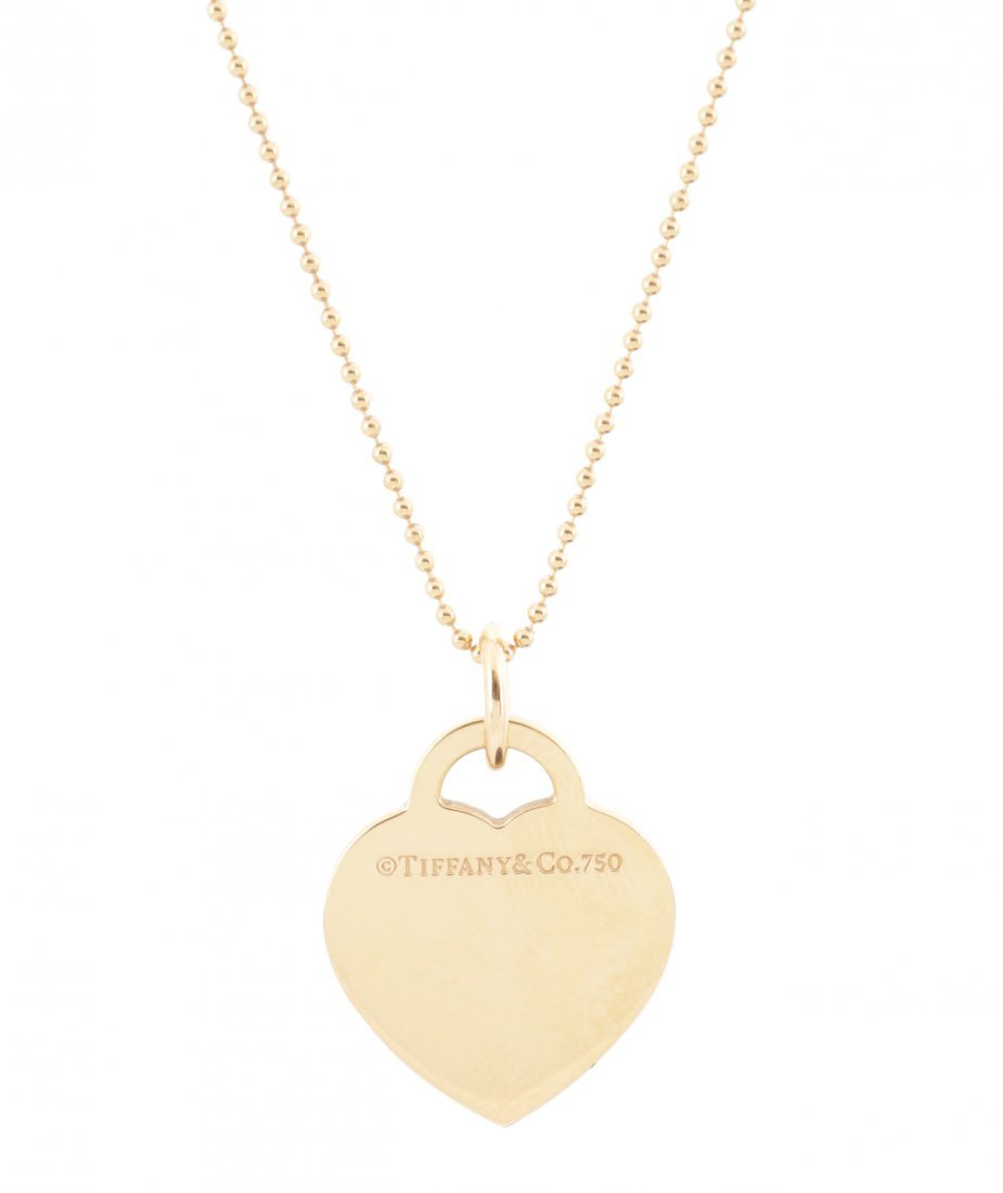 Tiffany & Co. 18K Gold & Diamond Heart Pendant - 3