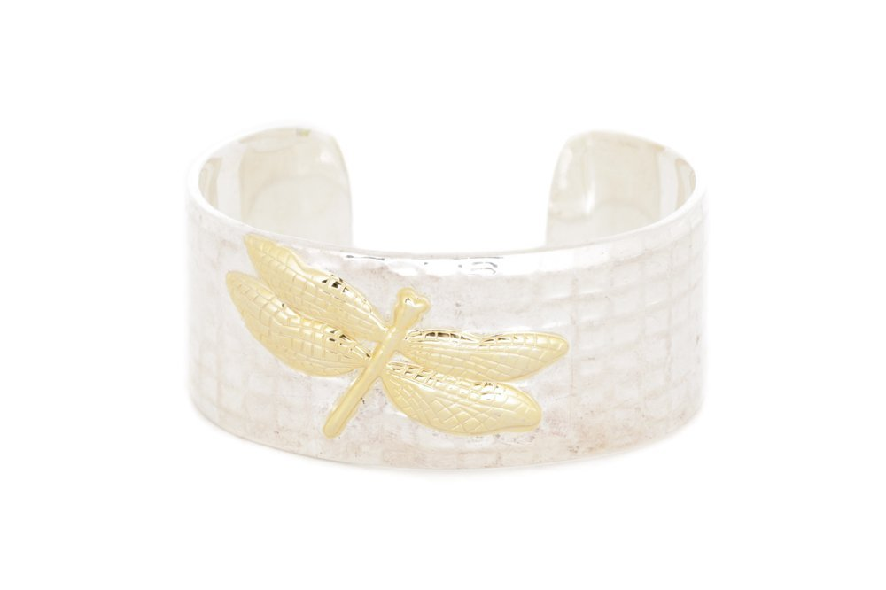 Tiffany & Co. Sterling & 18k Dragonfly Bracelet