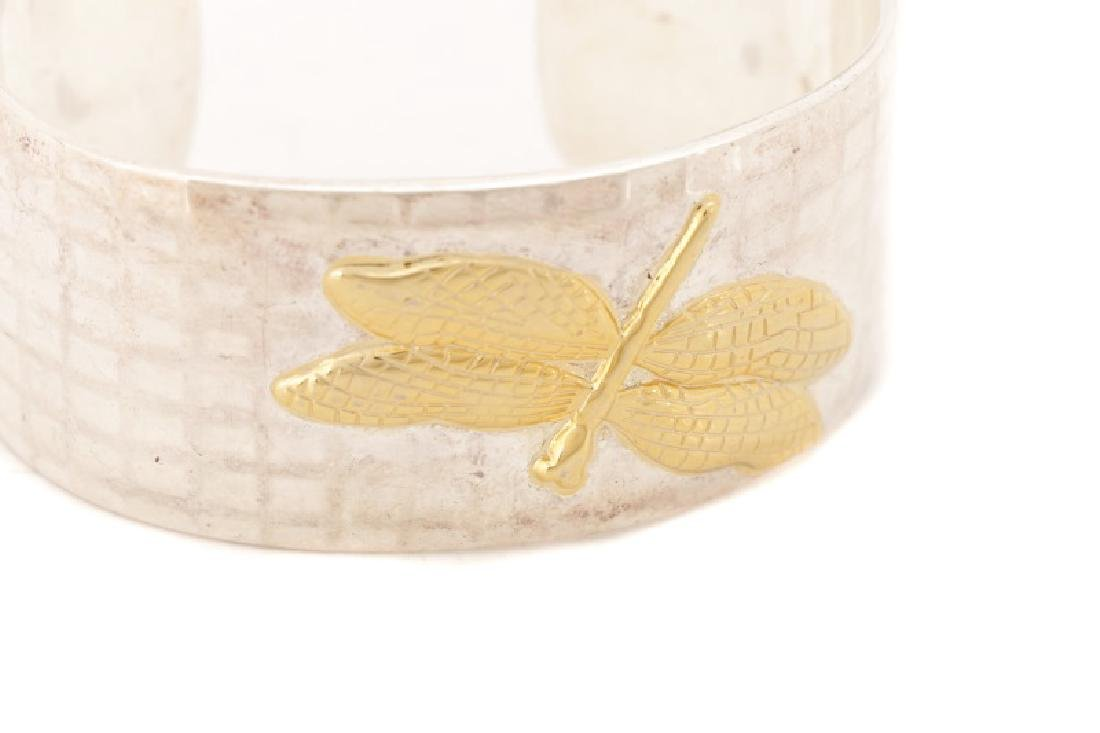 Tiffany & Co. Sterling & 18k Dragonfly Bracelet - 2