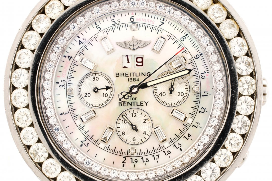 Breitling Bentley Motors Stainless Steel Watch - 2
