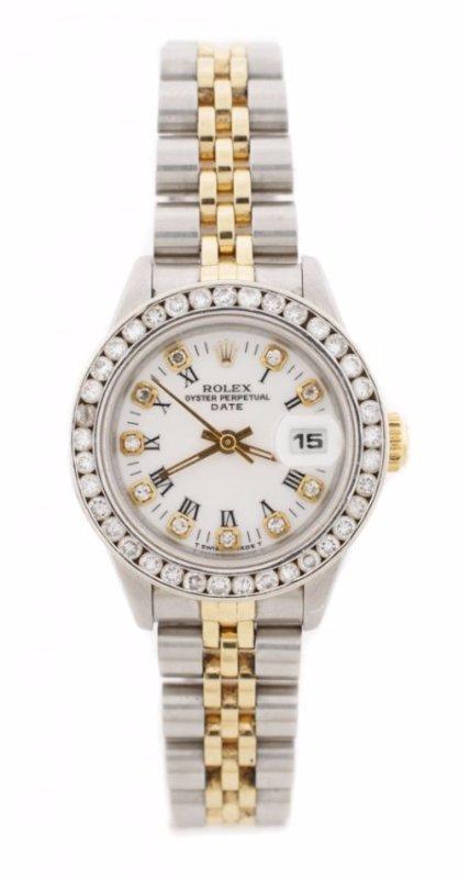 Ladies Rolex Oyster Perpetual w/Diamond Bezel