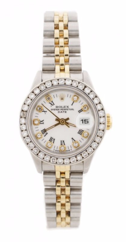 Ladies Rolex Oyster Perpetual w/Diamond Bezel