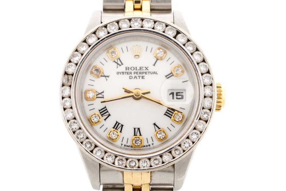 Ladies Rolex Oyster Perpetual w/Diamond Bezel - 2
