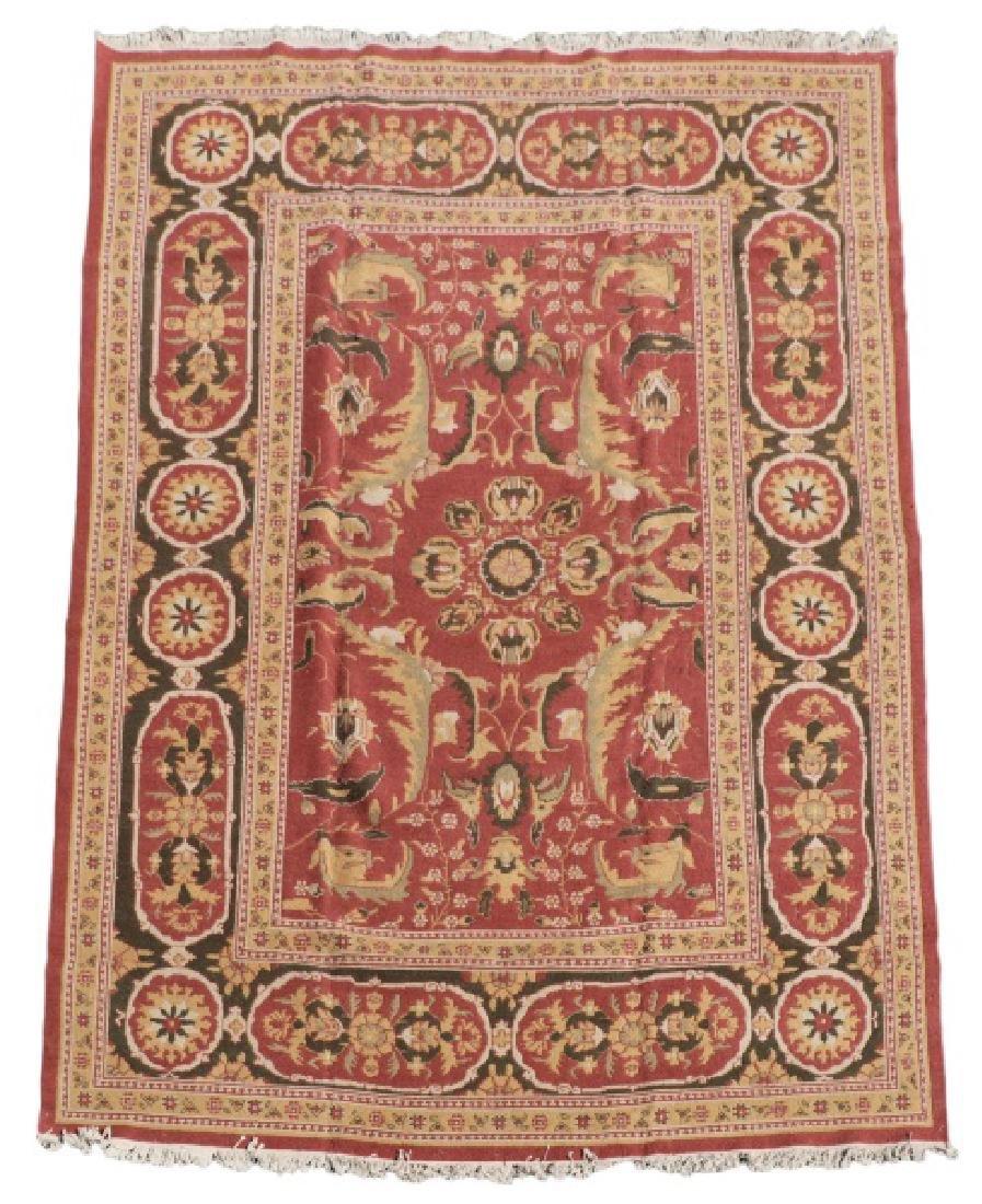 Hand Woven Soumak Room Size Rug, Approx. 9' x 12'