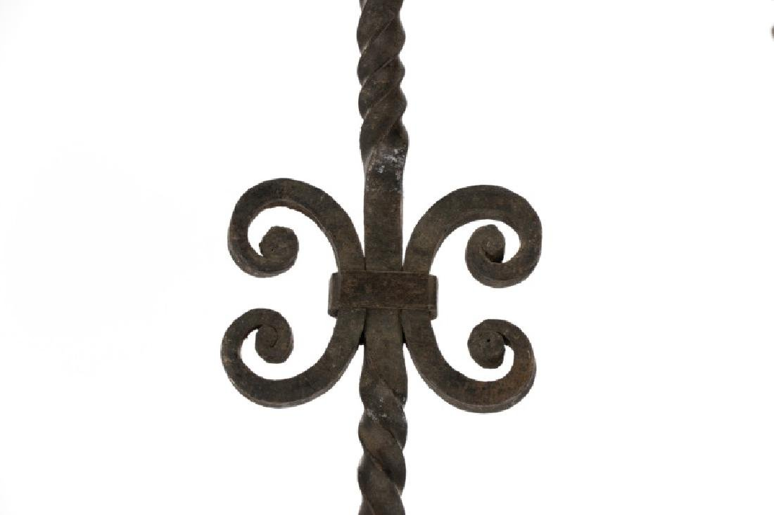 Large French Gothic Style Iron 9-Light Chandelier - 2