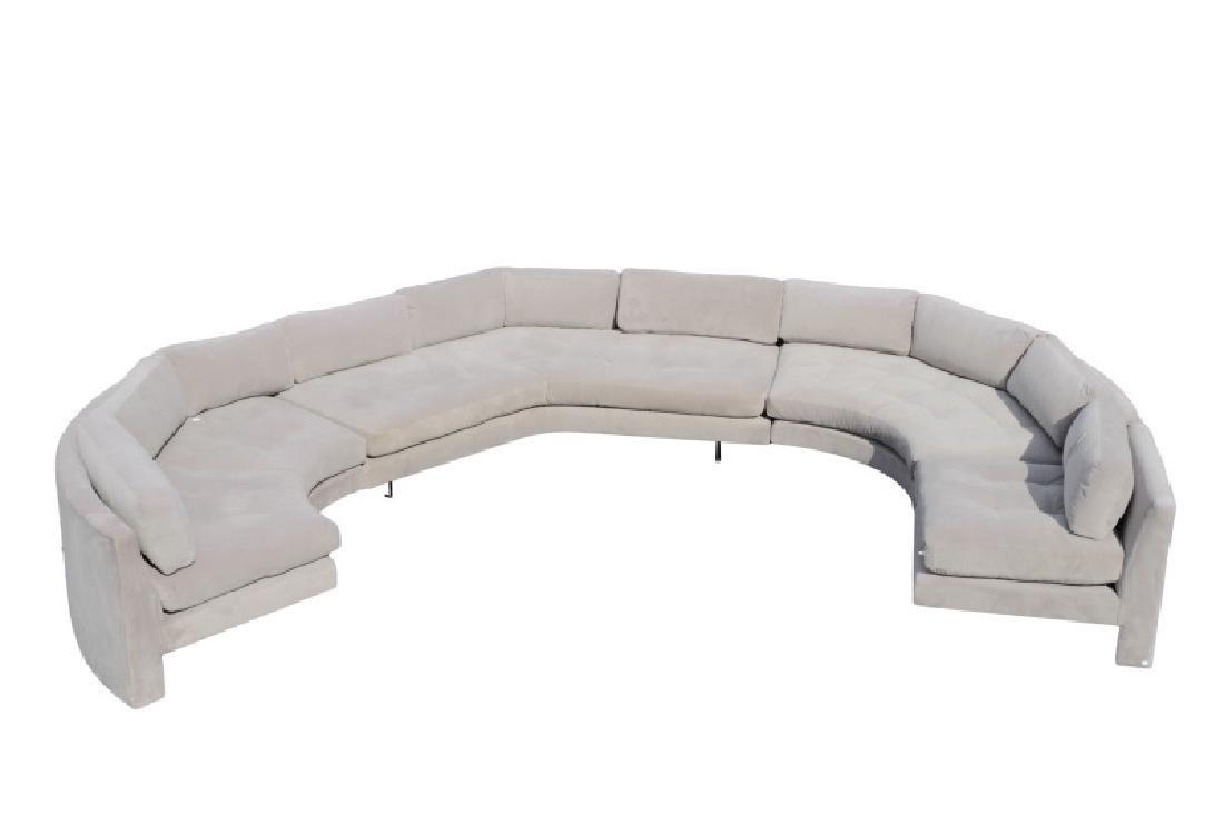 Vladimir Kagan Gray Omnibus III Sectional Sofa