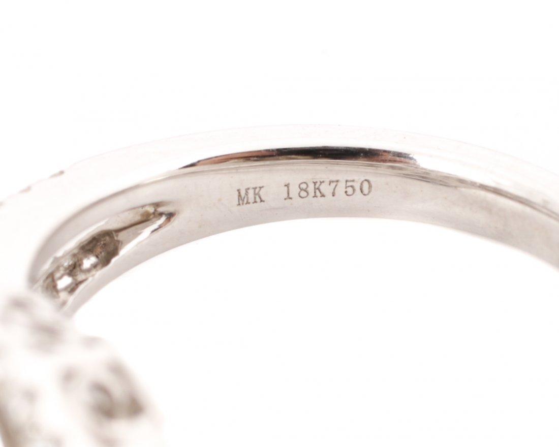 18K White Gold Asscher Cut Diamond Ring - 5