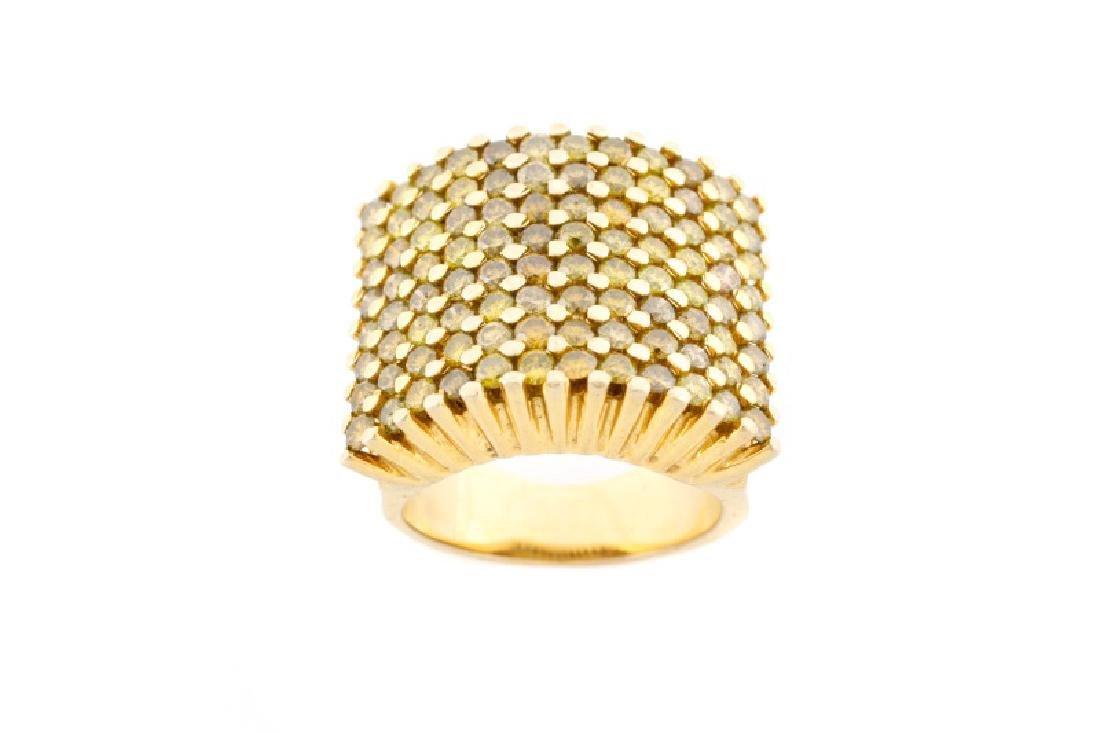 Ladies 14k Yellow Gold & Yellow Diamond Ring