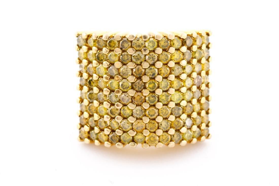 Ladies 14k Yellow Gold & Yellow Diamond Ring - 2