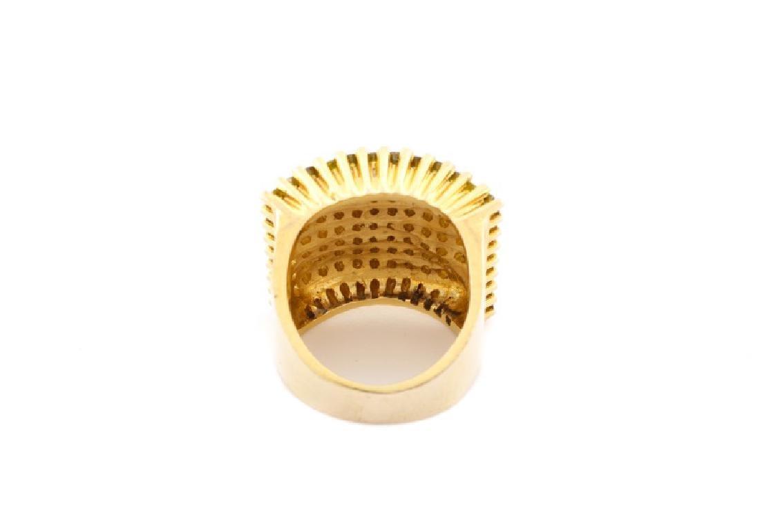 Ladies 14k Yellow Gold & Yellow Diamond Ring - 3
