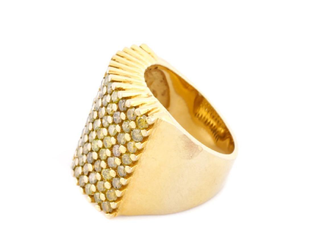 Ladies 14k Yellow Gold & Yellow Diamond Ring - 4