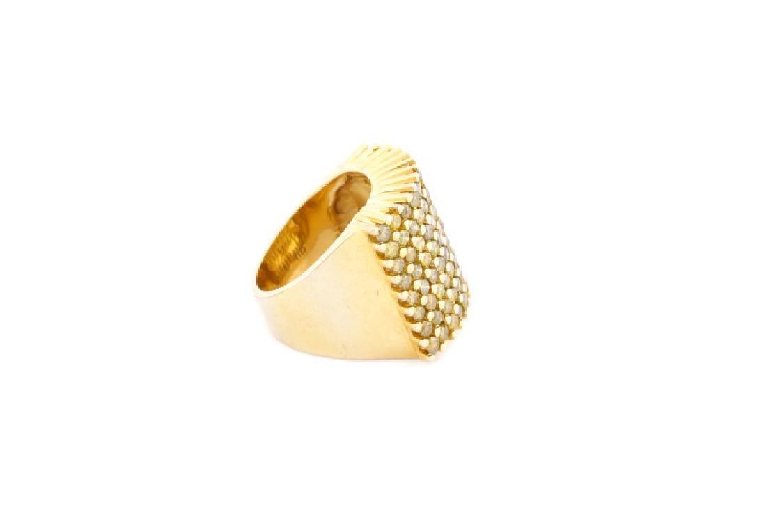 Ladies 14k Yellow Gold & Yellow Diamond Ring - 5