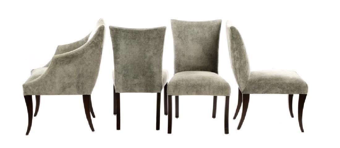 Set of 10 Donghia Velvet Upholstered Dining Chairs - 7