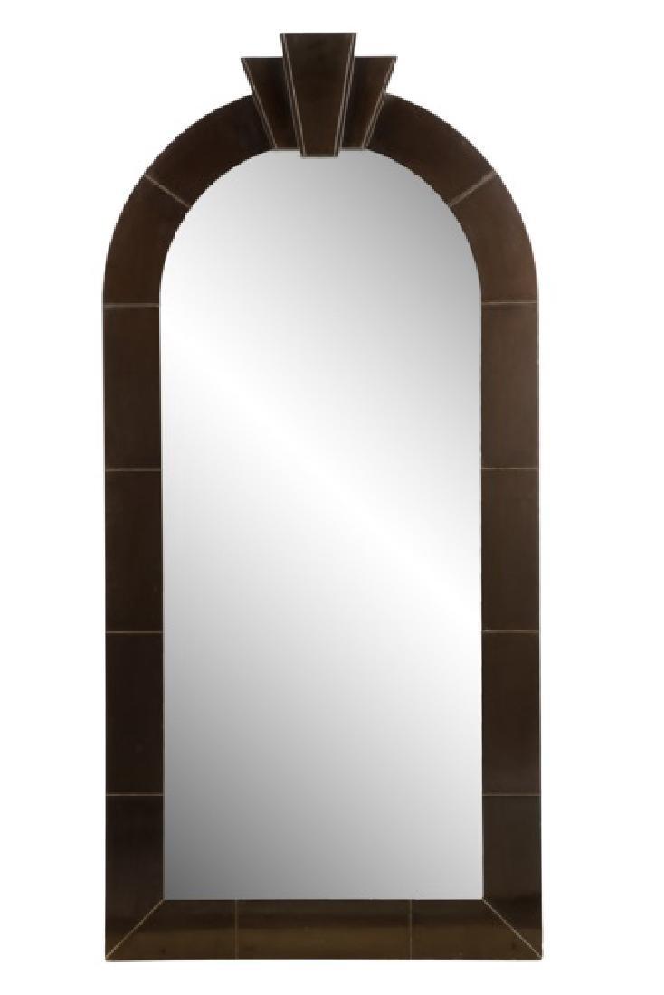 Dome-Top Art Deco Mirror Attr. to Karl Springer