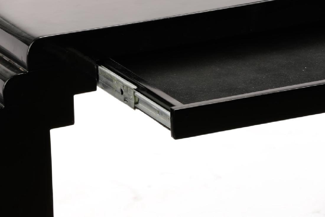 Karl Springer Style Black Lacquered Console Table - 4
