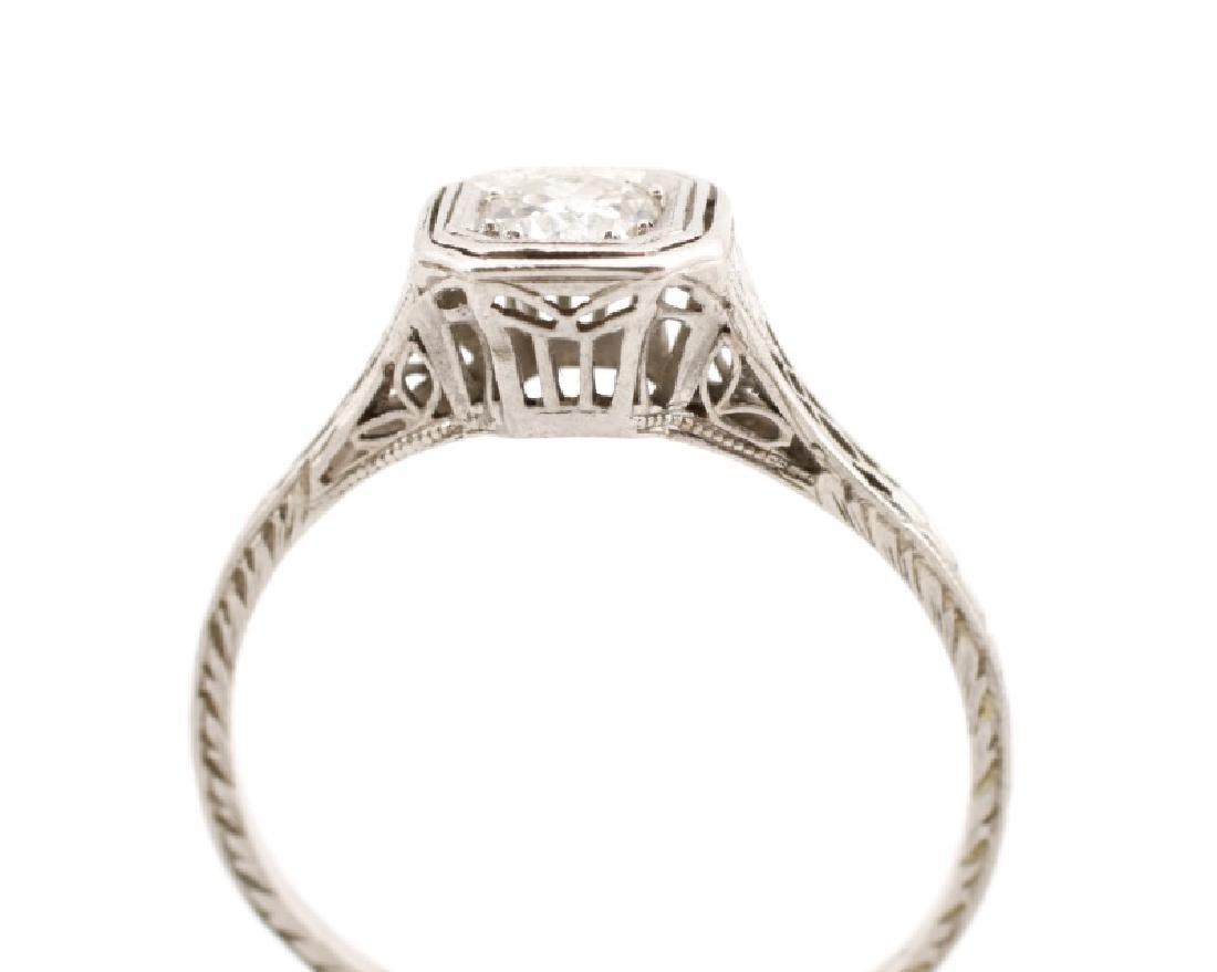 Art Deco Platinum & Diamond Engagement Ring - 2