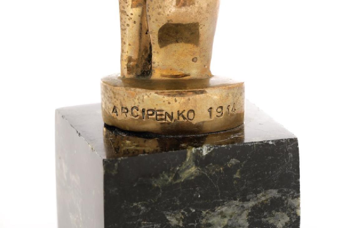"Alexander Archipenko, ""Torso"", Gilt Bronze - 2"