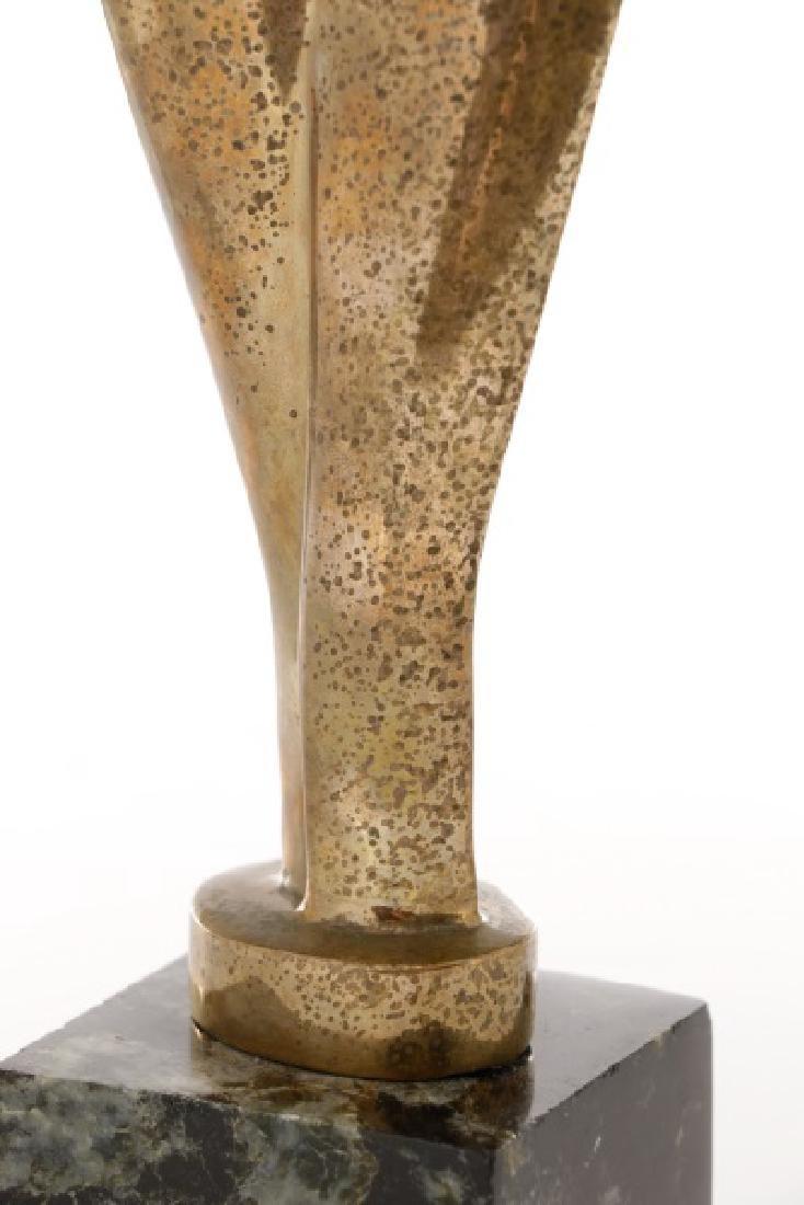 "Alexander Archipenko, ""Torso"", Gilt Bronze - 6"