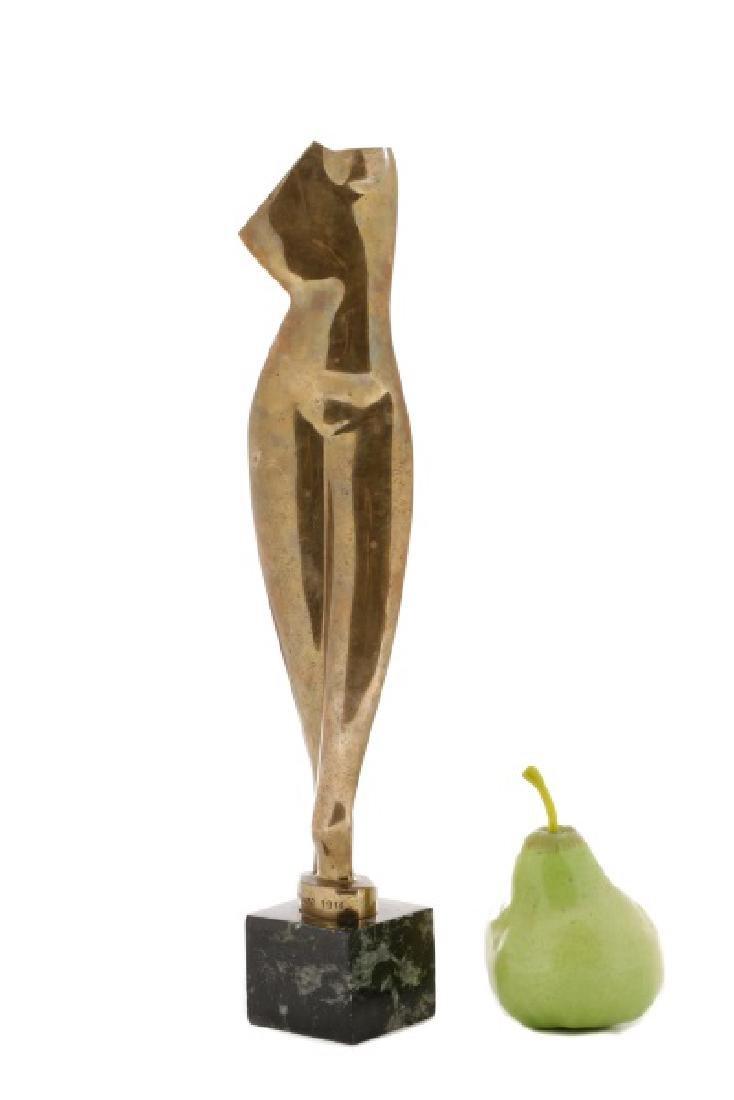 "Alexander Archipenko, ""Torso"", Gilt Bronze - 7"