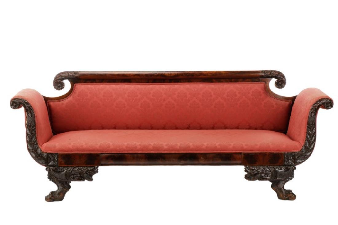 American Classical Sofa, Anthony Quervelle (attr)