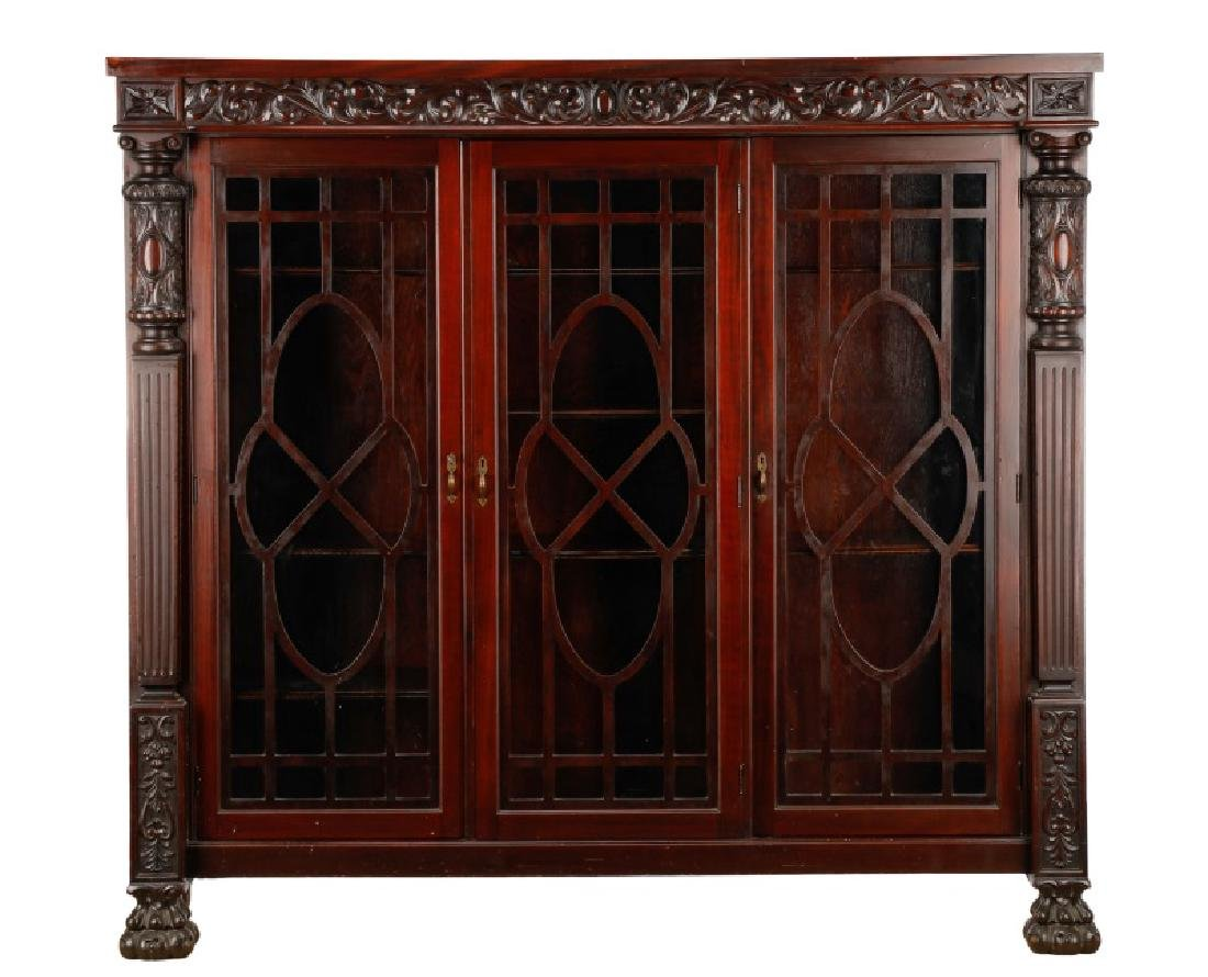 Late Classical Revival Bookcase Manner of Horner