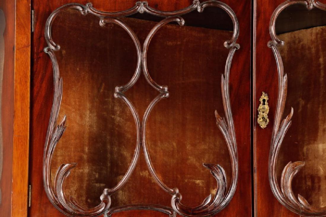 American Rococo Revival Mahogany Corner Cabinet - 2